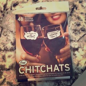 Other - NWOT reusable Chitchats drink markers
